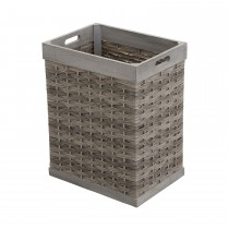 Casa Small Weave Basket, Washed Grey