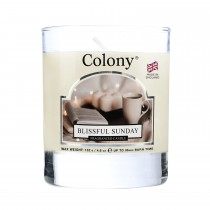 Colony Small Wax Fill Glass Candle, Blissful Sunday