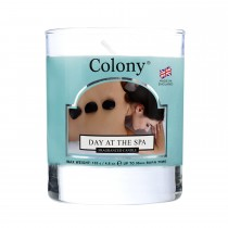 Colony Small Wax Fill Glass Candle, Day At The Spa