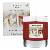 Made In England Small Wax Filled Glass Candle, Raspberry Fizz