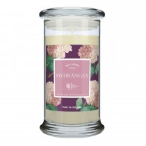 Wax Lyrical RHS Large Wax Filled Scented Glass Candle, Hydrangea