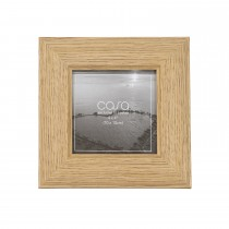"Casa Wood Look Photo Frame, Grey, 4"" x 4"""
