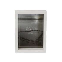 "Casa Deep Photo Frame, White, 5"" x 7"""