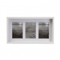 "Casa Deep Photo Frame x 3 Aperture, White, 4"" x 6"""