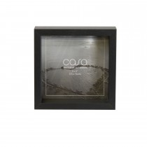 "Casa Deep Photo Frame, Black, 5"" x 5"""