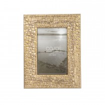 "Casa Embossed Photo Frame , Gold, 4"" 6"""