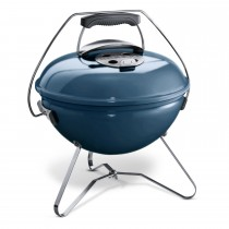 Weber Smokey Joe Charcoal Grill 37cm Barbecue, Slate Blue