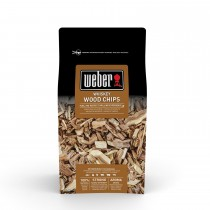 Weber Whiskey Oak Barbecue Wood Chips 0.7kg, Brown