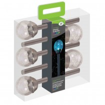 Smart Garden Crackle Globe Solar Light 5 Pack