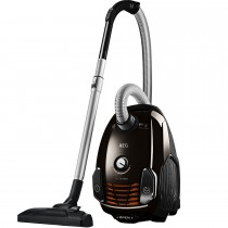 AEG VX6-2-CB-P Power Force Bagged Cylinder Vacuum Cleaner, Chocolate Brown