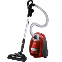 AEG VX8-4-CR-A Animal Bagged Cylinder Vacuum Cleaner, Chili Red