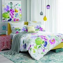 Bluebellgray Tetbury Bedding Set Double, Multi & White