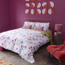 Bluebellgray Sweet Pea Duvet Set Double, White