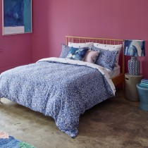 Bluebellgray Wee Pomegranate Bedding D Set Double, Navy & White