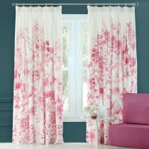 Bluebellgray Frankie Meadow Curtains 167x182cm, White