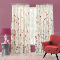 Bluebellgray Sweet Pea Curtain 228x228cm, Multi & White