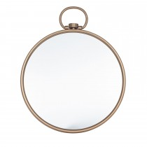 Pacific Lifestyle Antique Brass Round Wall Mirror