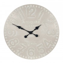 Pacific Lifestyle Dove Grey Round Wood Wall Clock
