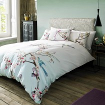 Ted Baker Flight of the Orient Duvet Cover, Double, Light Grey