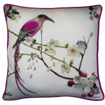 Ted Baker Flight of the Orient Feather Cushion, 45x45cm, Light Grey