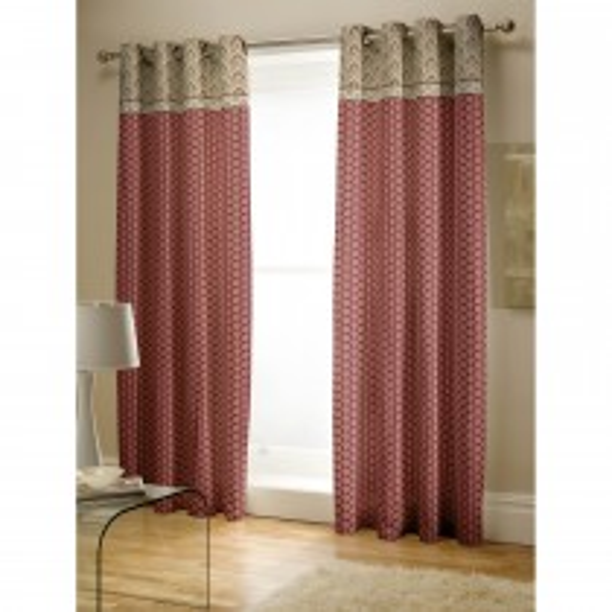 Catherine Lansfield Kashmir Curtain, 168cm x 183cm, Red