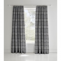 Catherine Lansfield Kelso Curtain, 168cm x 183cm, Charcoal