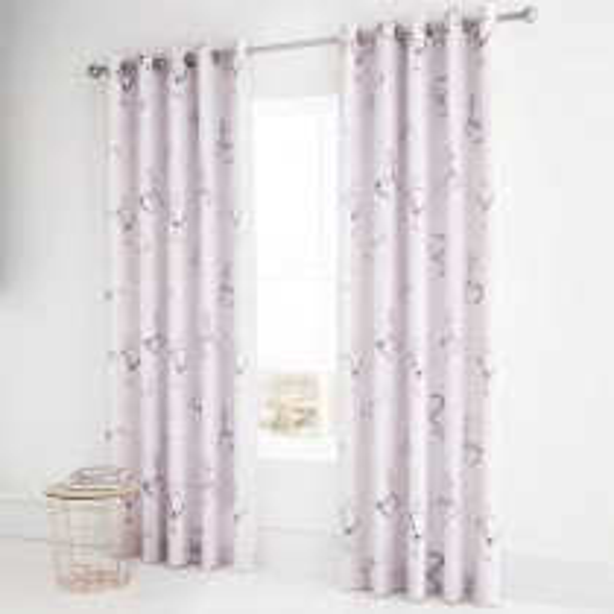 Catherine Lansfield Enchanted Unicorn Curtain, 168cm x 183cm, Pink