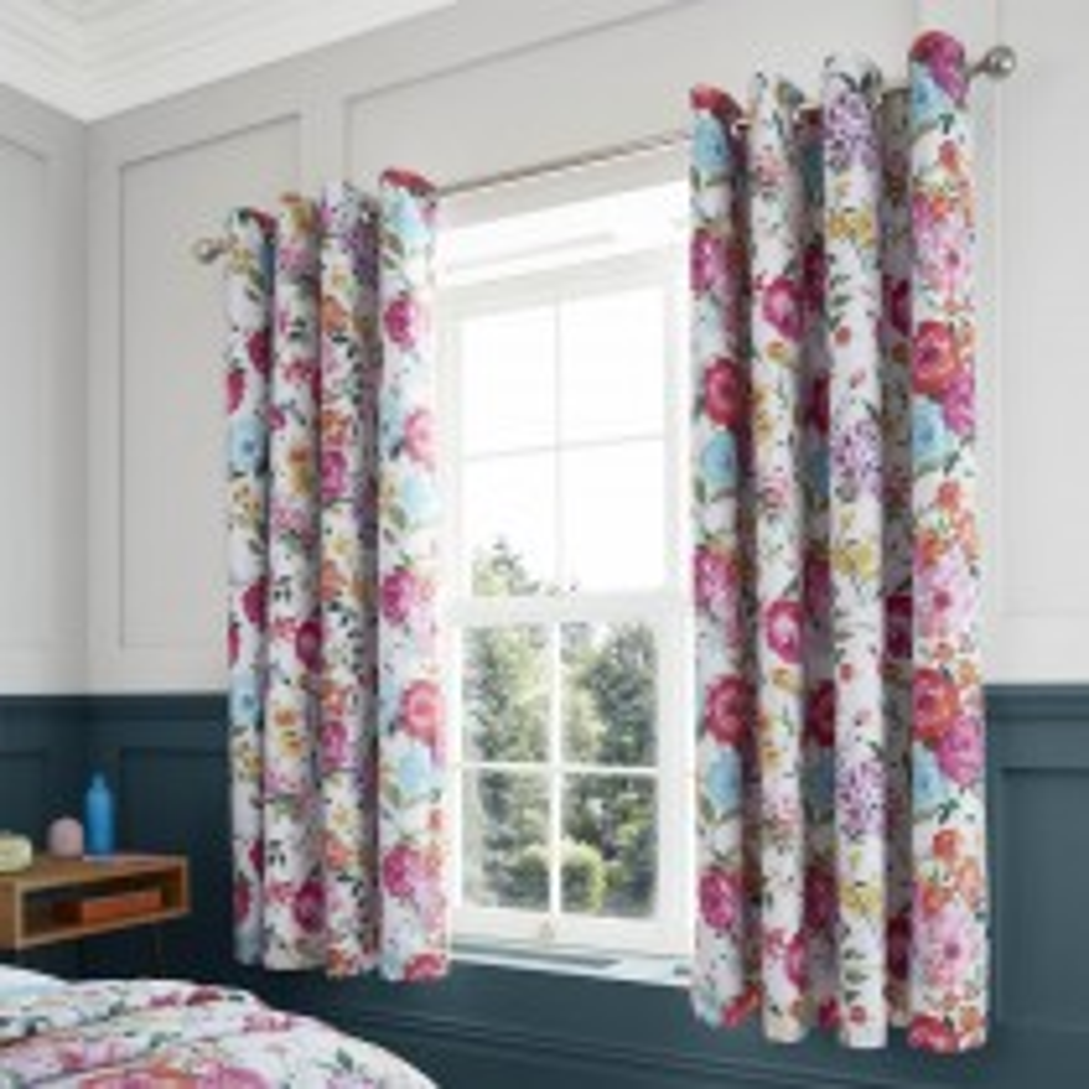 Catherine Lansfield Salisbury Curtain, 168cm x 229cm, White