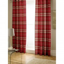 Catherine Lansfield Kelso Curtain, 168cm x 183cm, Red