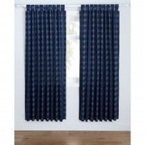 Catherine Lansfield Stars And Stripes Curtain, 168cm x 183cm, Blue