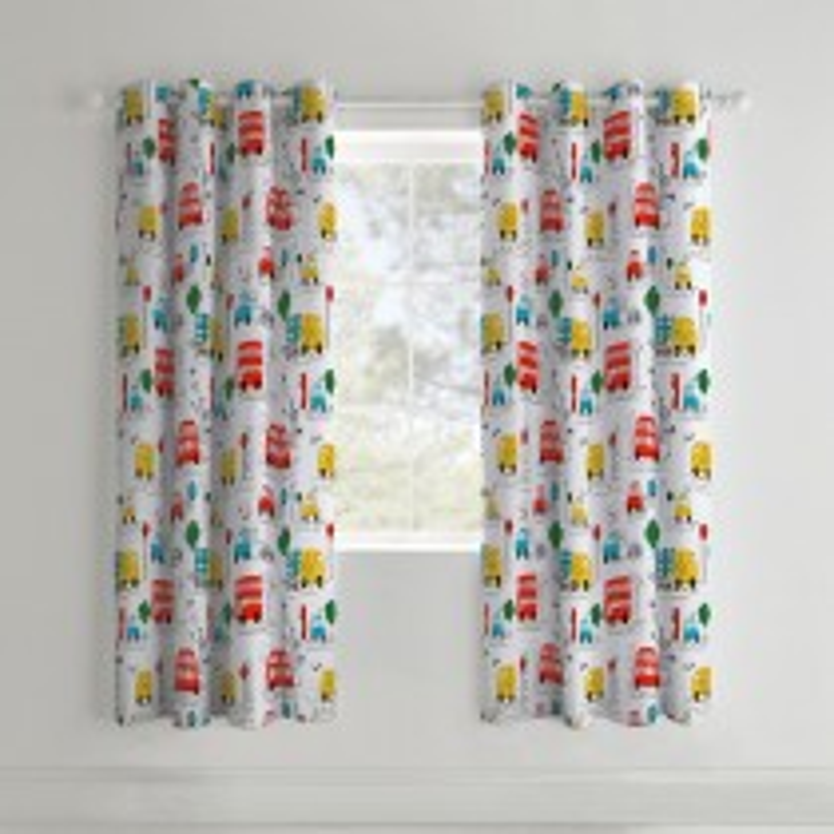 Catherine Lansfield Transport Curtain, 168cm x 183cm, White