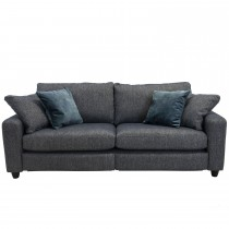 Casa George 3 Seater Power Recliner Sofa, Sousel Marine/Ocean Velvet