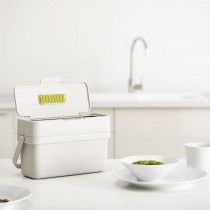 Compo 4 Food Waste Caddy, Stone