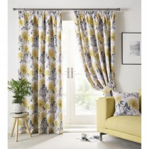 Ashley Wilde Sofia Curtain, 117cm x 137cm, Ochre