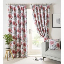 Ashley Wilde Sofia Curtain, 117cm x 137cm, Scarlet