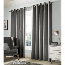 Ashley Wilde Monaco Eyelet Curtain, Dove