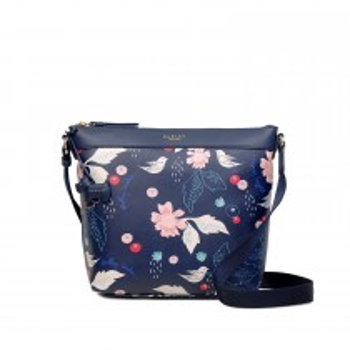 Radley Handbags Painterly Floral Zip Top Crossbody Bag, Ink