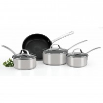 Circulon Genesis Stainless Steel 4 Piece Set, Silver
