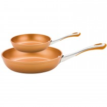 Prestige Prism Twin Frypan 20cm and 30cm Set, Copper