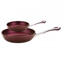 Prestige Prism Twin Frypan 20cm and 30cm Set, Eggplant