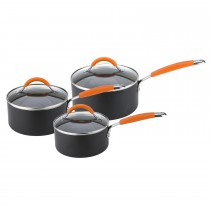 Joe Wicks 3 Piece Saucepan Set, Aluminium