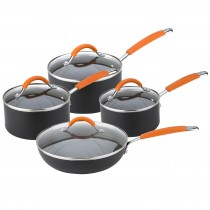 Joe Wicks 4 Piece Saucepan Set, Aluminium