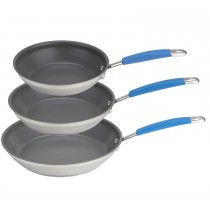 Joe Wicks Triple Frypan Set, Stainless Steel