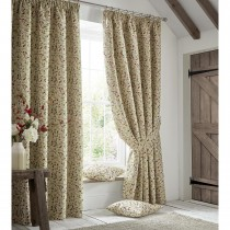 Ashley Wilde Penny Lined Curtain, Poppy