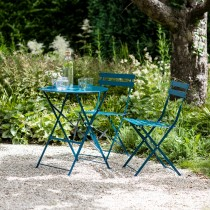 Garden Trading Rive Droite Bistro Set Small, Teal