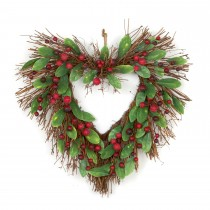 Casa Natural Berry Heart Wreath