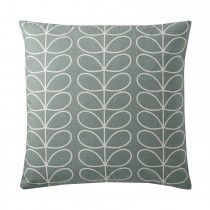 Orla Kiely Small Linear Stem Feather Filled Cushion, 50cmx50cm, Duckegg