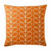 Orla Kiely Small Linear Stem Feather Filled Cushion, 50cmx50cm, Persimmon