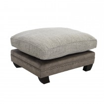 Casa Sophia Loafer Footstool, Dapple Mink/nickel/antique