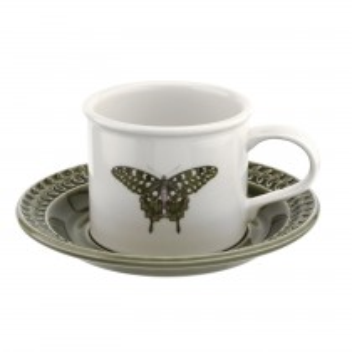Portmeirion Botanic Garden Harmony Breakfast Cup And Saucer, Forest Green